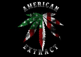 American Extract t shirt vector