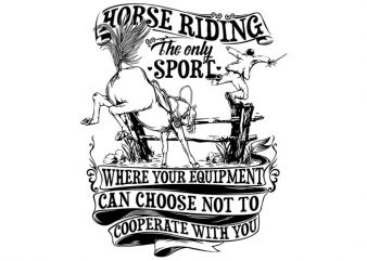Horse Riding t shirt design to buy