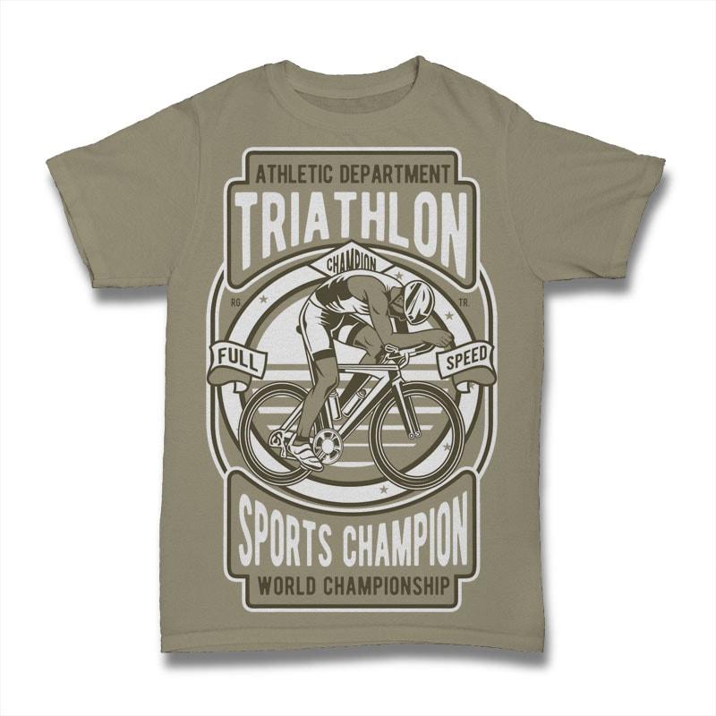 Triathlon Bike tshirt design for sale