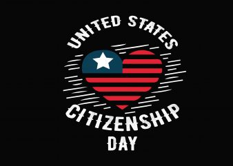 United States Citizenship t shirt vector graphic