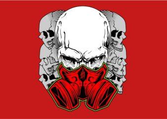 Skull Using Mask vector t-shirt design