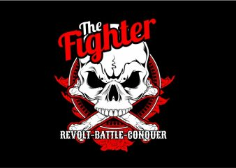 The Fighter t shirt designs for sale