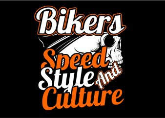 Speed, Style and Culture commercial use t-shirt design