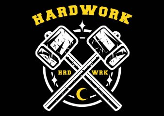 hardwork tshirt design