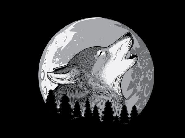 Wolf2 Vector t-shirt design