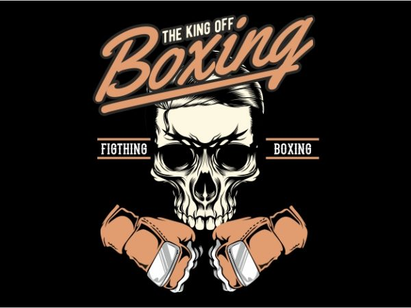 The King of Boxing vector t-shirt design for commercial use