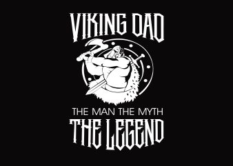 Viking Dad t shirt vector art