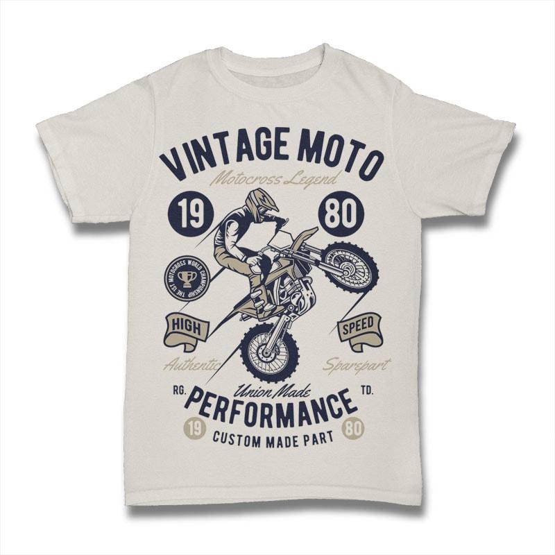 Vintage Moto t shirt designs for printful