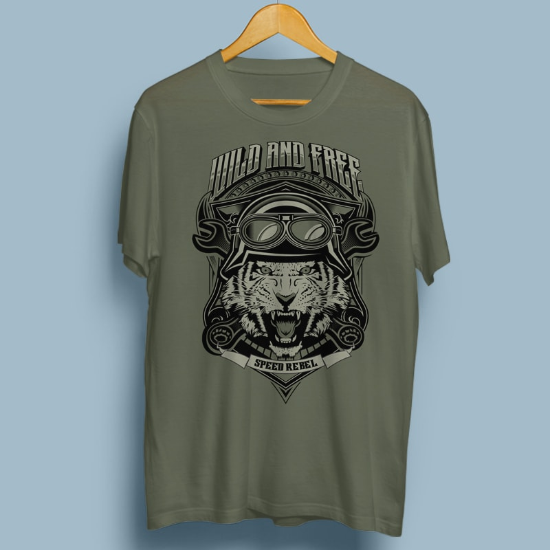 WILD AND FREE t shirt designs for printful