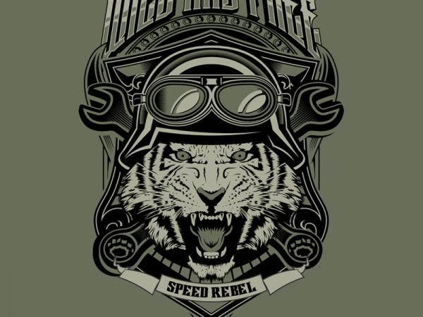 WILD AND FREE vector shirt design