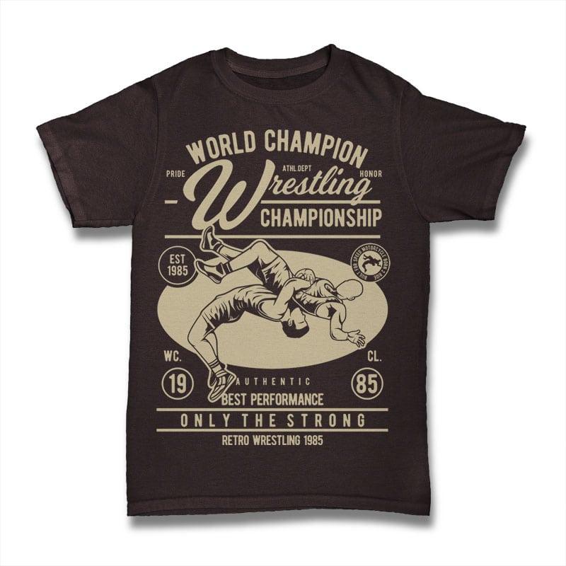 Wrestling t shirt designs for printful