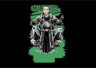 Zoro Gangster Rider buy t shirt design