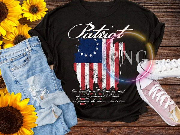 Patriot America Flag Life, Liberty, and the Pursuit of Happiness Betsy Ross Flag T-Shirt
