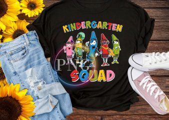 Crayon Kindergarten squad T shirt – Crayon squad back to school