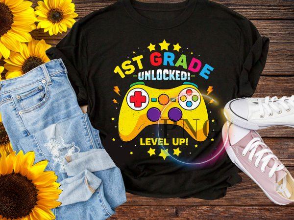 1st Grade Unlocked Level Up Kindergarten Pre-K T shirt