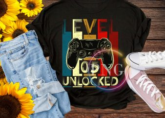 Level 5 unlocked epic since 2014 – Birthday boy 5 years old t shirt vector graphic