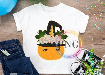 Pumpkin Unicorn – Pumpcorn Halloween Cute t shirt illustration