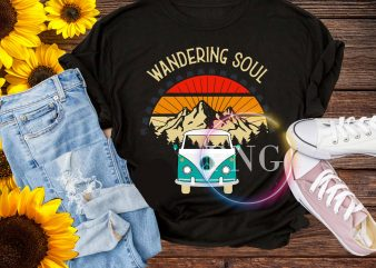 Wandering soul T shirt design PNG