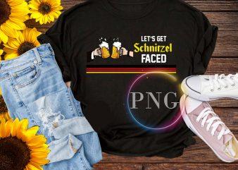 Let's get schnitzel faced T shirt – Prost beer germany design PNG