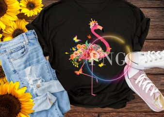Flamingo flower stock vector deisng PNG t shirt