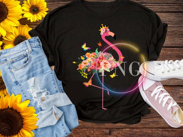 Flamingo flower stock vector deisng PNG t shirt