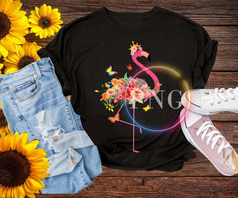 Flamingo flower stock vector deisng PNG t shirt t shirt designs for printful