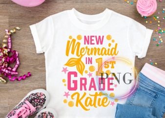 New Mermaid in 1st grade T shirt back to school