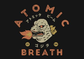 atomic breath t shirt vector