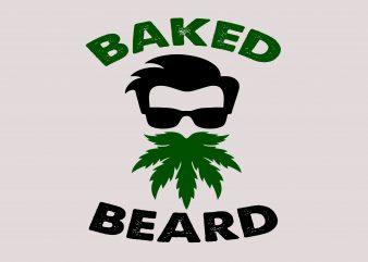 Baked Beard t shirt template