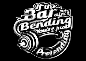 bar bending t shirt template