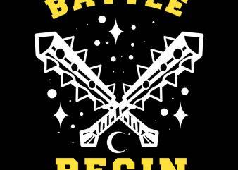 batle begin tshirt design