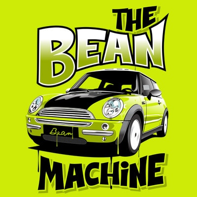 BEAN MACHINE vector t shirt design for download