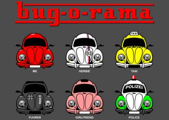 BUG-O-RAMA buy t shirt design for commercial use