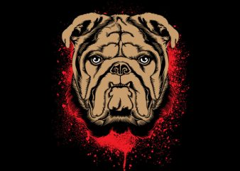 Bulldog t shirt template
