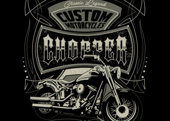 CHOPPERS t shirt vector file