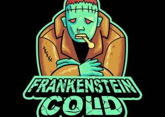frankenstine cold tshirt design