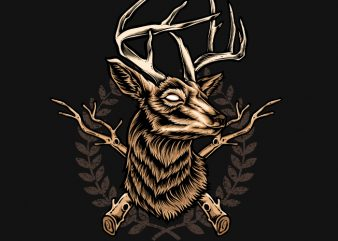 Deer Hunter commercial use t-shirt design