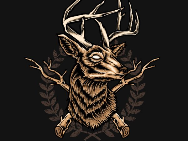 Deer Hunter t shirt vector illustration