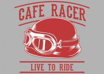 cafe racer retro helmet design for t shirt