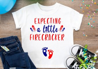 Expecting A Little Firecracker T shirt Design PNG