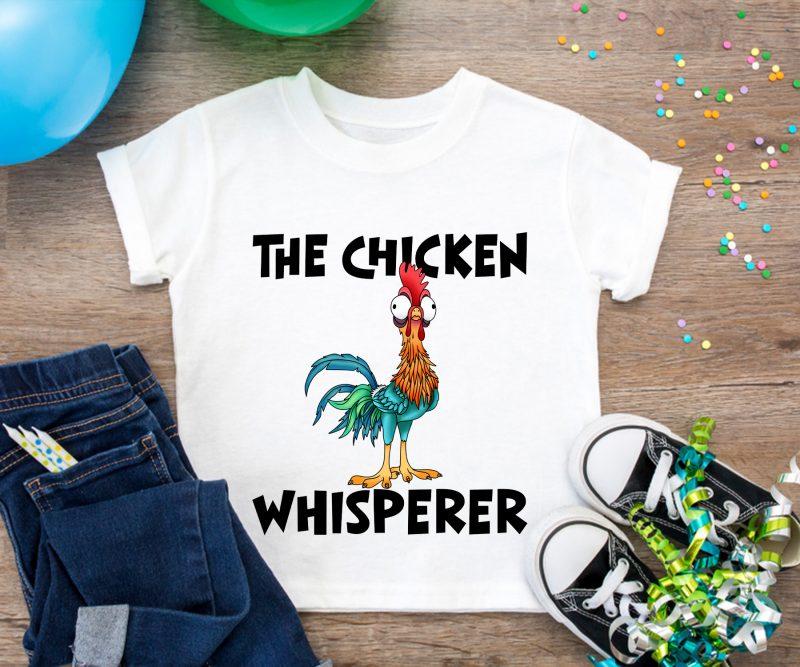 The Chicken Whisperer T shirt Design PNG Chicken Farm t shirt designs for sale