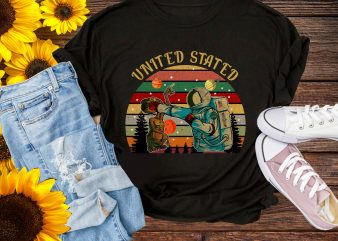 united states space force Vintage T-shirt Gift Design PNG