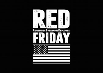 Red Friday tshirt design for sale