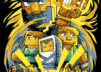 minecraft game t-shirt design