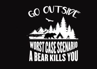 Go Outside t shirt design template
