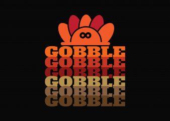 Gobble t shirt design for purchase
