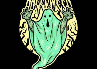 haunted ghost tshirt design