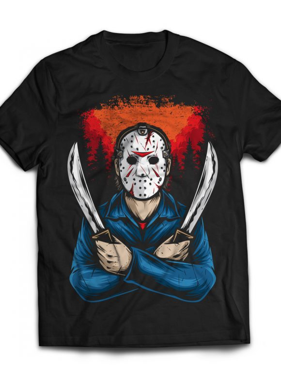 Jason t shirt design graphic