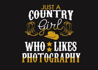 Just A Country Girl print ready shirt design