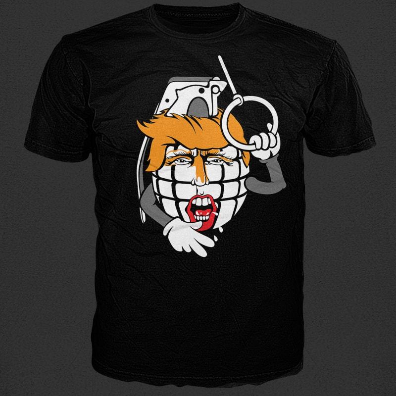 Granade commercial use t shirt designs